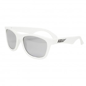 Aces - Wicked White Navigaor with Mirrored Lenses