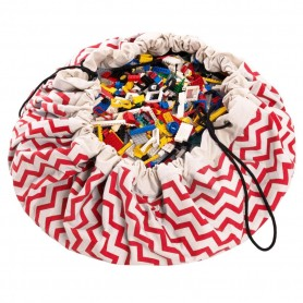 Play & Go - Storage Bag Zig Zag Red