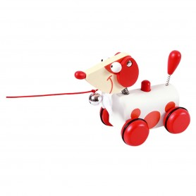 Pull-Along Toy Small Dog Red