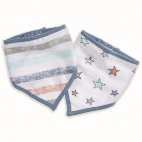 Aden+Anais - 2-Pack Bandana Bibs HIT THE ROAD