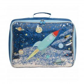 A Little Lovely - Suitcase-Glitter Space