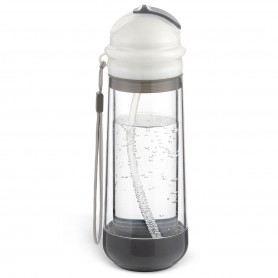DrinkaDeux - Glass Double Wall Insulated Bottle with Straw