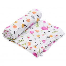 LITTLE UNICORN - Cotton Muslin Swaddle Berry & Bloom