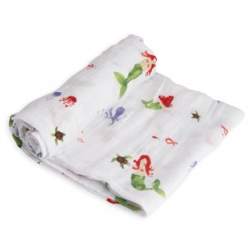 LITTLE UNICORN - Cotton Muslin Swaddle Mermaid