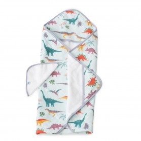 LITTLE UNICORN - Hooded Towel & Washcloth Set Embroidosaurus
